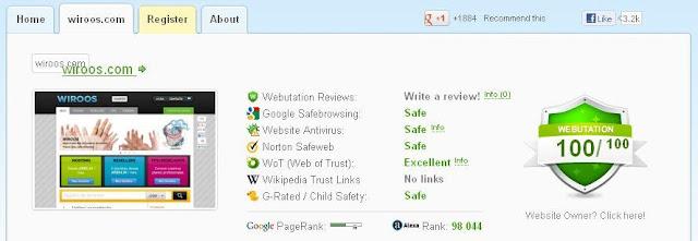 Resultados de la reputación del alojamiento web barato WIROOS por WEBUTATION