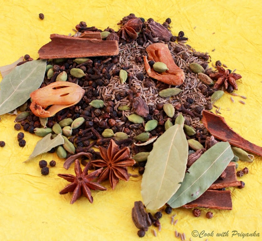 ... for Garam Masala but I am following my Mother's recipe to the T