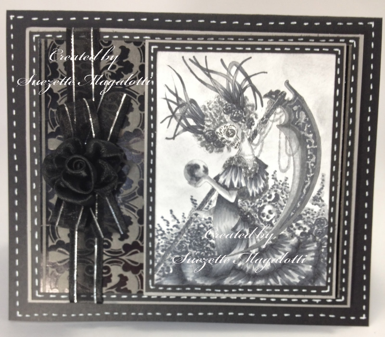 Suezette 39 s scrapbooking creations santa muerte the 39 black 39 challenge - Santa muerte signification ...