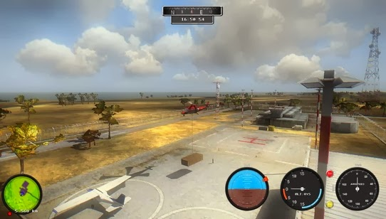 Gameplay Helicopter Simulator Search and Rescue
