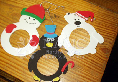 winter NAMC montessori activities animal frames