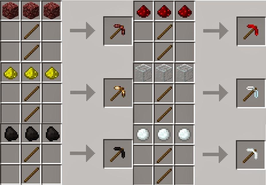 Как сделать кирка огня 864