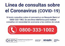 Pandemia / Coronavirus / Neuquén