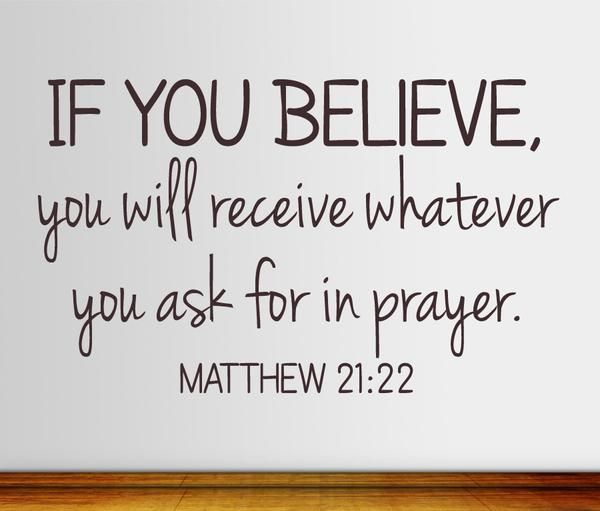 ASK ACCORDING TO GOD'S WILL