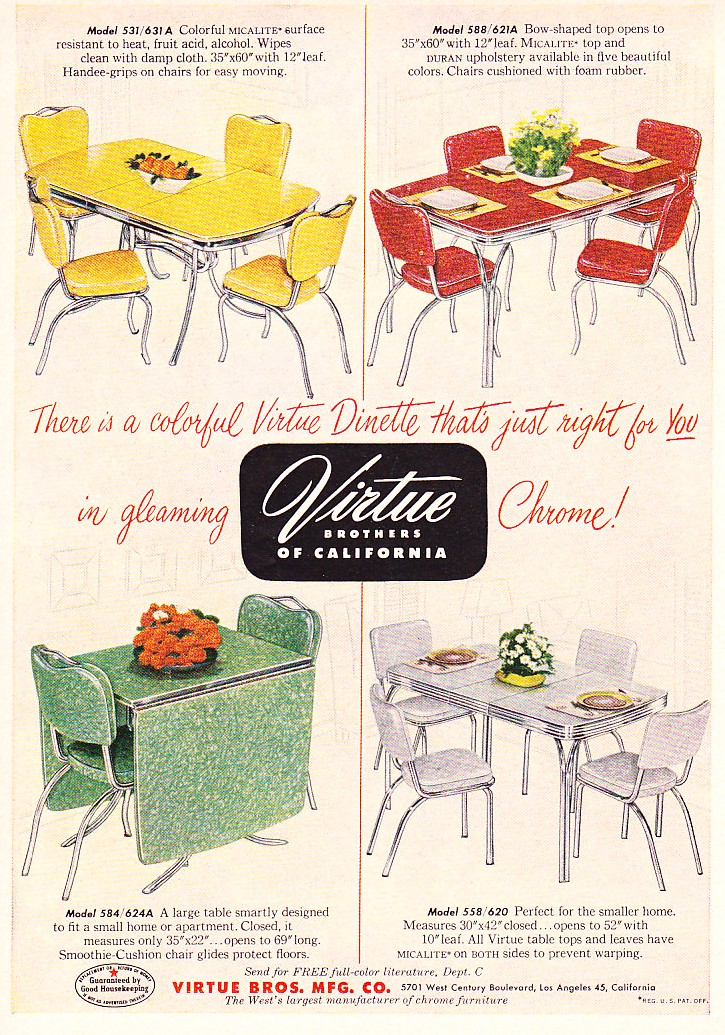 C dianne zweig kitsch 39 n stuff virtue brothers of for Retro dinette sets