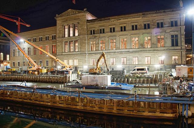 Baustelle Empfangsgebäude für die Museumsinsel, Pergamon Museum, Am Kupfergraben, Bodestraße 1-3, 10178 Berlin, 08.01.2014