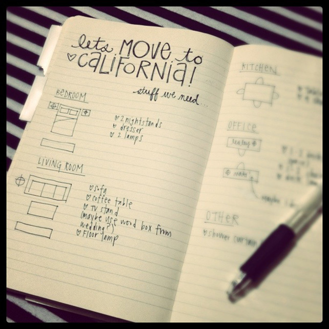 Lets Move to California by lesleymyrick on Instagram