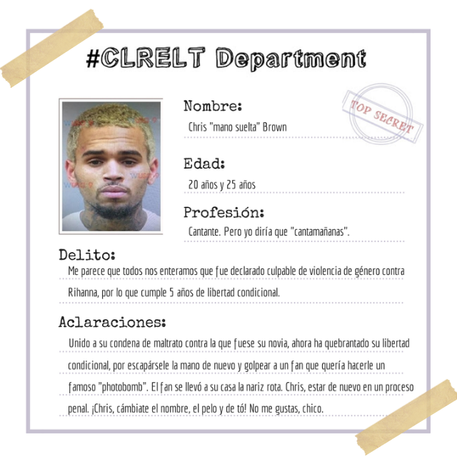 Mugshot Chris Brown