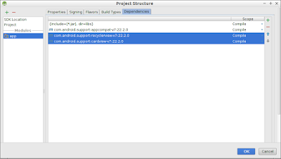 Add Back Upward Libraries Of Recyclerview, Cardview To Android Studio Project