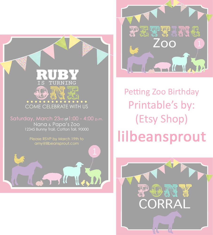 Creatively Quirky At Home: Ruby's FIRST Birthday! Petting