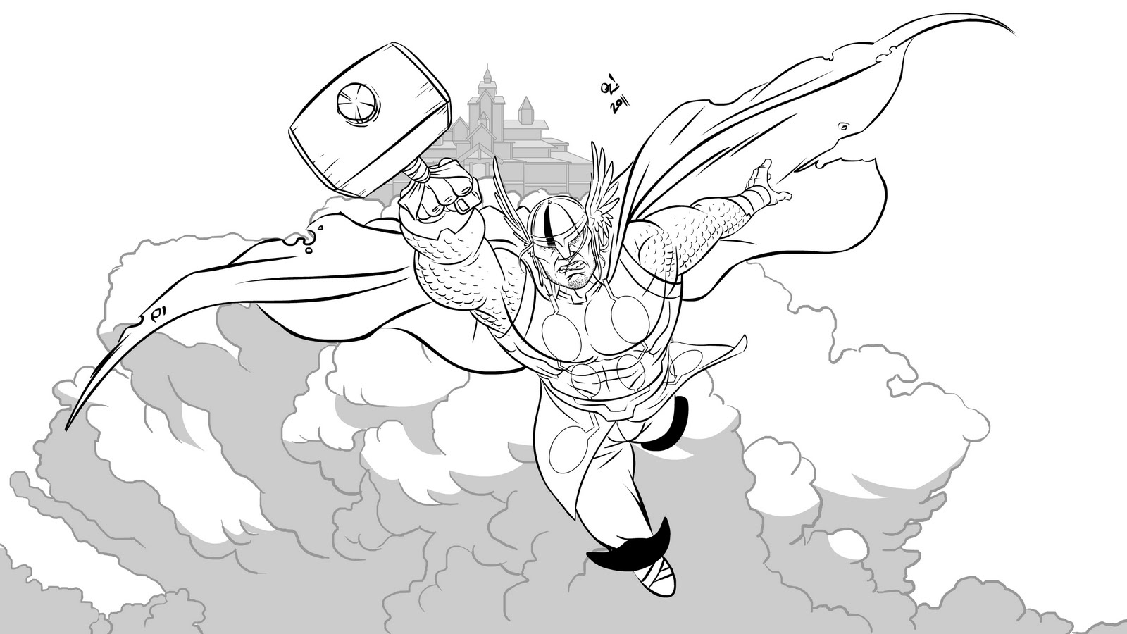 Free Coloring Pages Of Thor Helmet