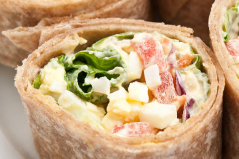 Curried Egg Salad Wraps