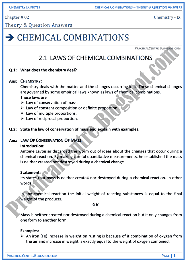 chemical-combinations-theory-and-question-answers-chemistry-ix