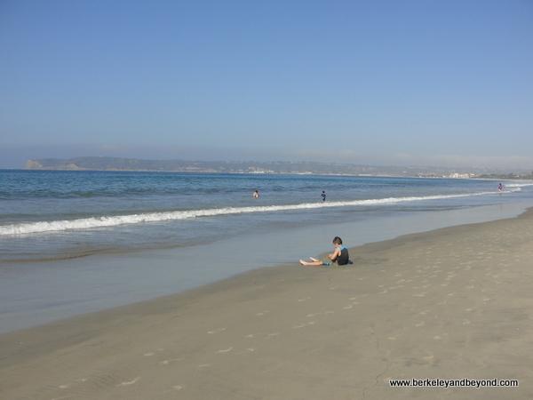 beach in front of Hotel del Coronado in San Diego, California