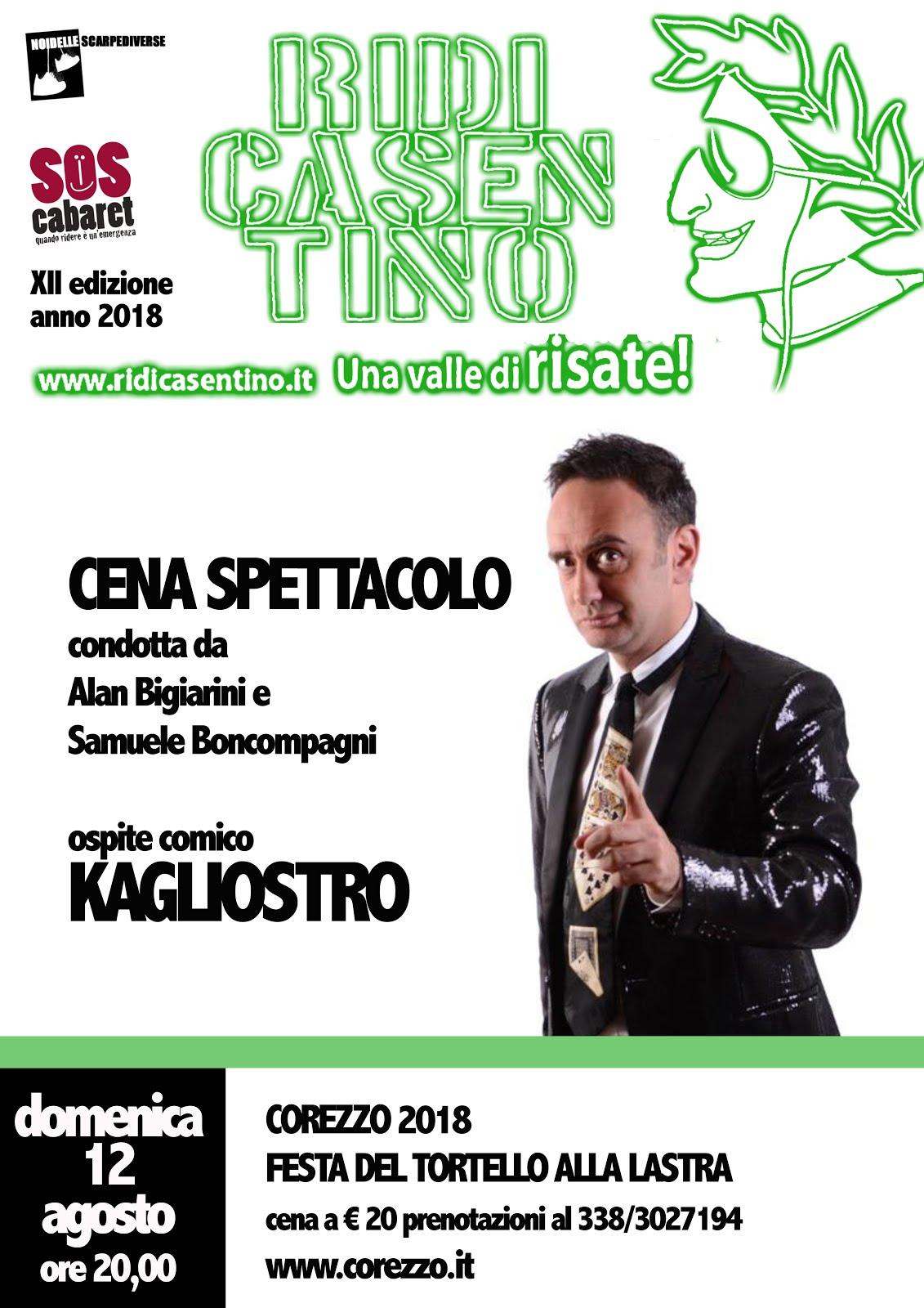 FESTIVAL 2018 - KAGLIOSTRO A COREZZO
