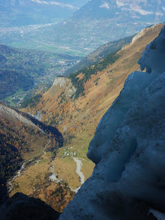 Vallée de l'Arve en Haute-savoie vue depuis miage, Mont-Blanc