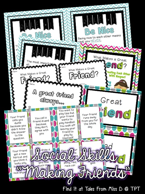 http://www.teacherspayteachers.com/Product/Social-Skills-Making-Friends-1430319