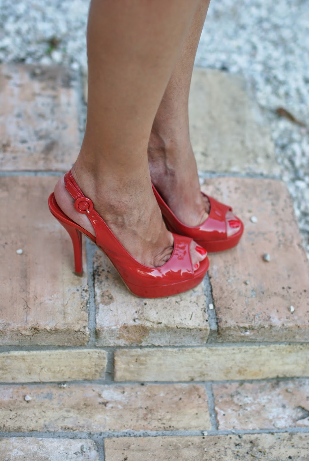 Castaner heels, coral patent leather, Fashion and Cookies, fashion blogger