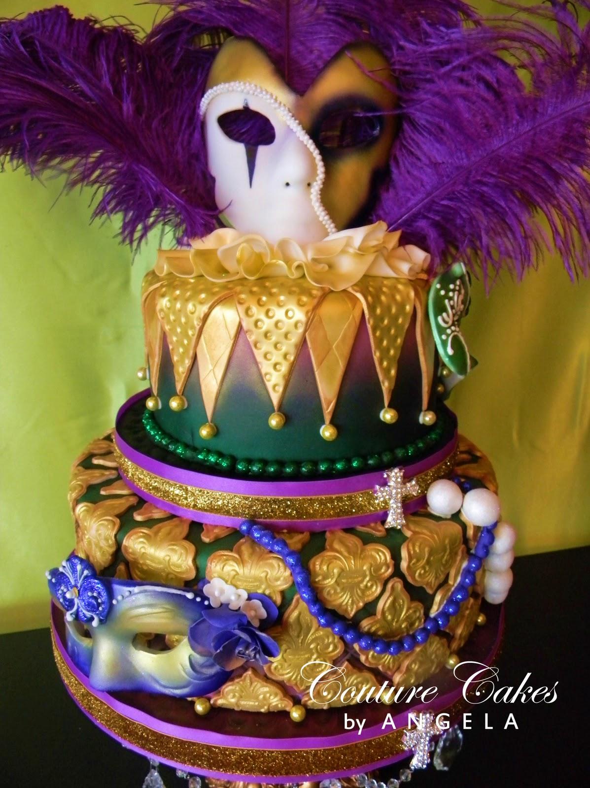 Mardis Gras Themed Cake