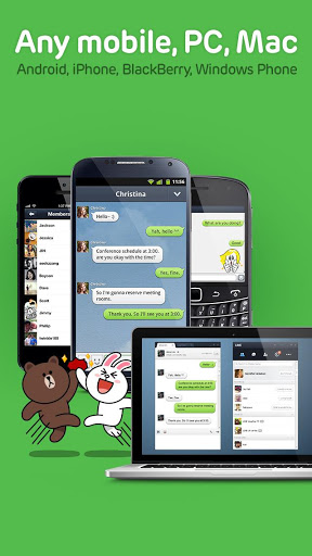how to use line free call and text