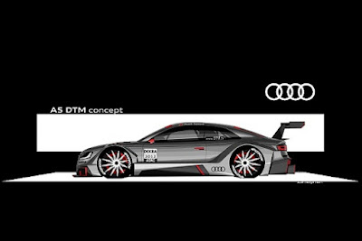 2011 Audi A5 Coupe DTM Racing Concept white
