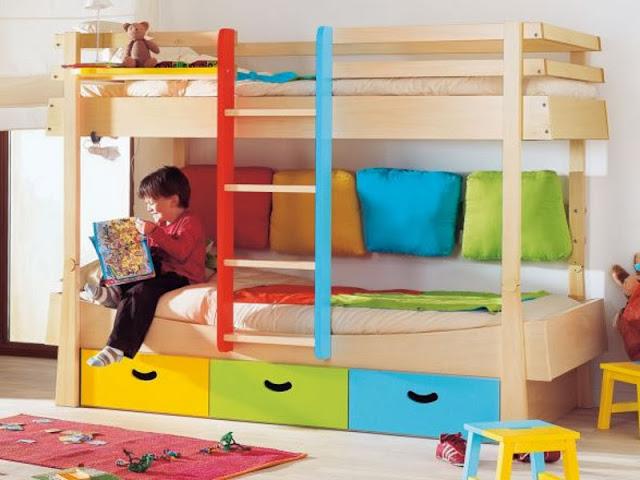 Dormitorios infantiles compartidos habitaciones - Dormitorios infantiles para nino ...