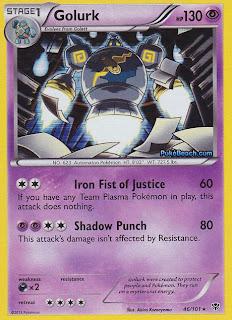 Golurk Plasma Blast Pokemon Card
