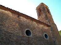 Campanar i façana nord de Santa Maria de Gaià