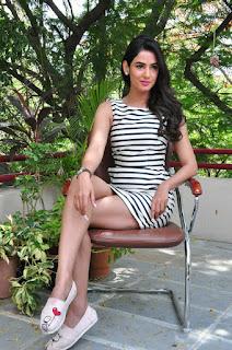 Actress Sonal Chauhan  Pictures in Short Dress at Pandaga Chesko Interview  0132.jpg