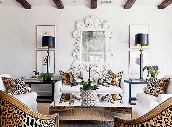 Attractive I Am Drawn To The Leopard Prints, Occasional Chairs, Pair Of Lamps, Gold  Art Frames, Mirrored Coffee Table And Glamorous Touches, What About You?