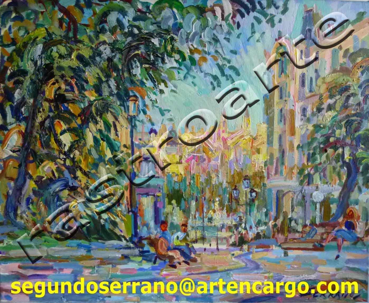 Oleo sobre lienzo de Segundo Serrano Tabuenca