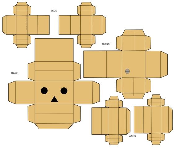 Как сделать из картона человека