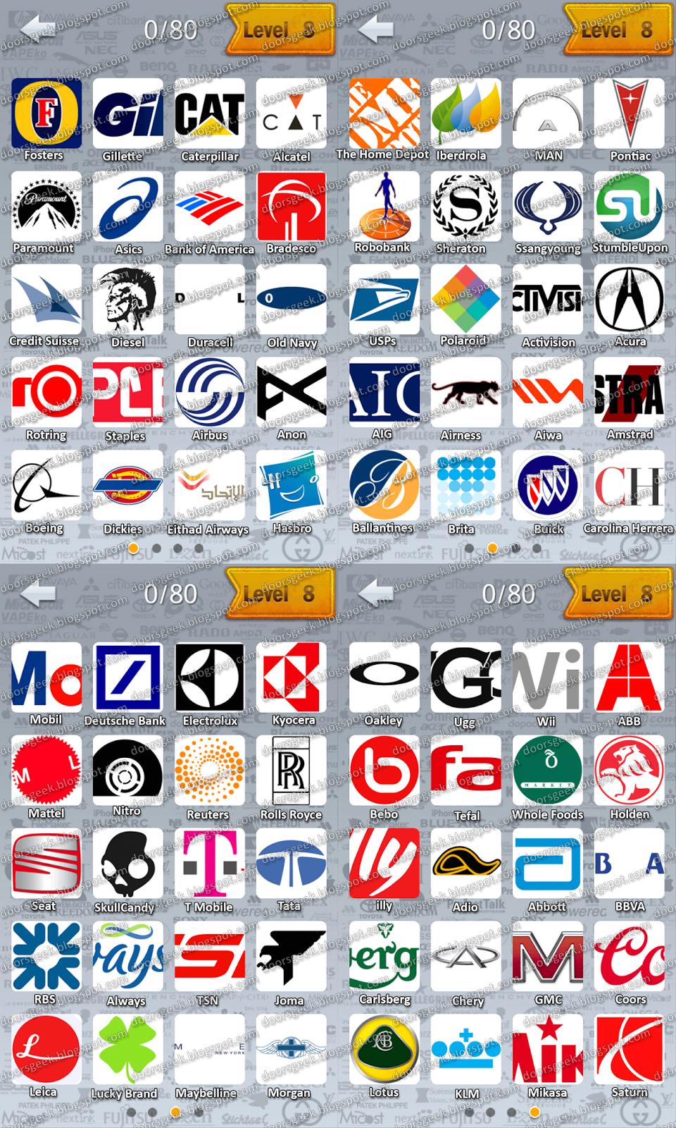Logo Quiz by CanadaDroid - Level 8 ~ Doors Geek