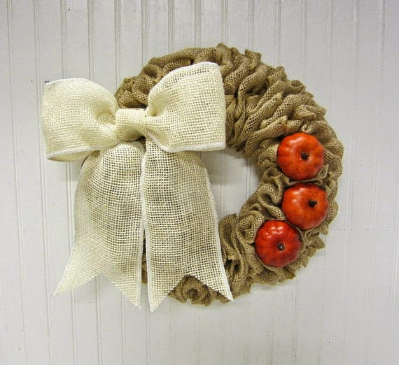 Handmade Fall Burlap Wreath by Simply Country Home via Prodigal Pieces http://www.prodigalpieces.com