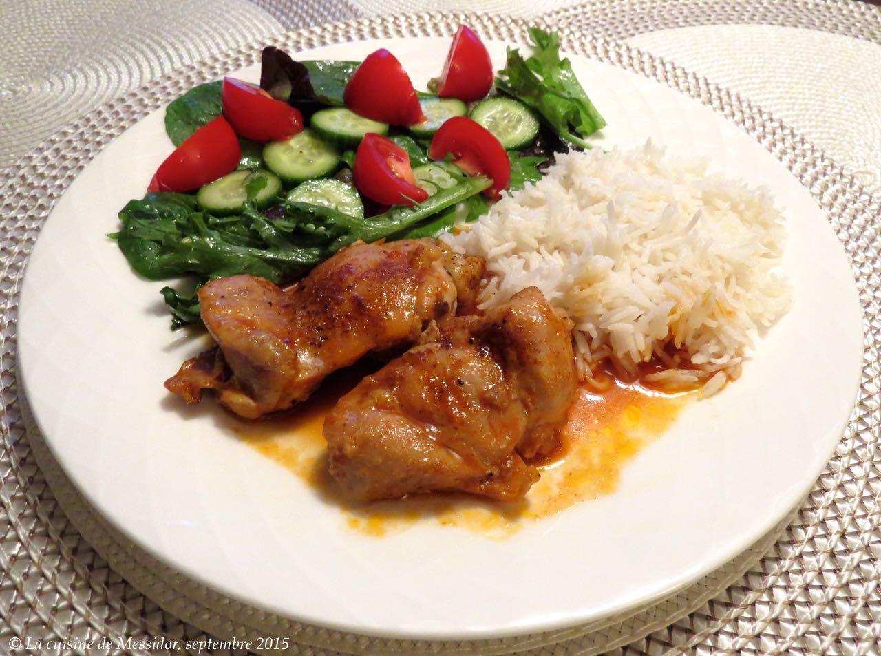 La cuisine de messidor hauts de cuisse de poulet sauce for Marinade poulet huile d olive