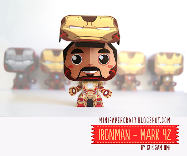 Iron Man 3 Paper Toy - Mark 42 Armor