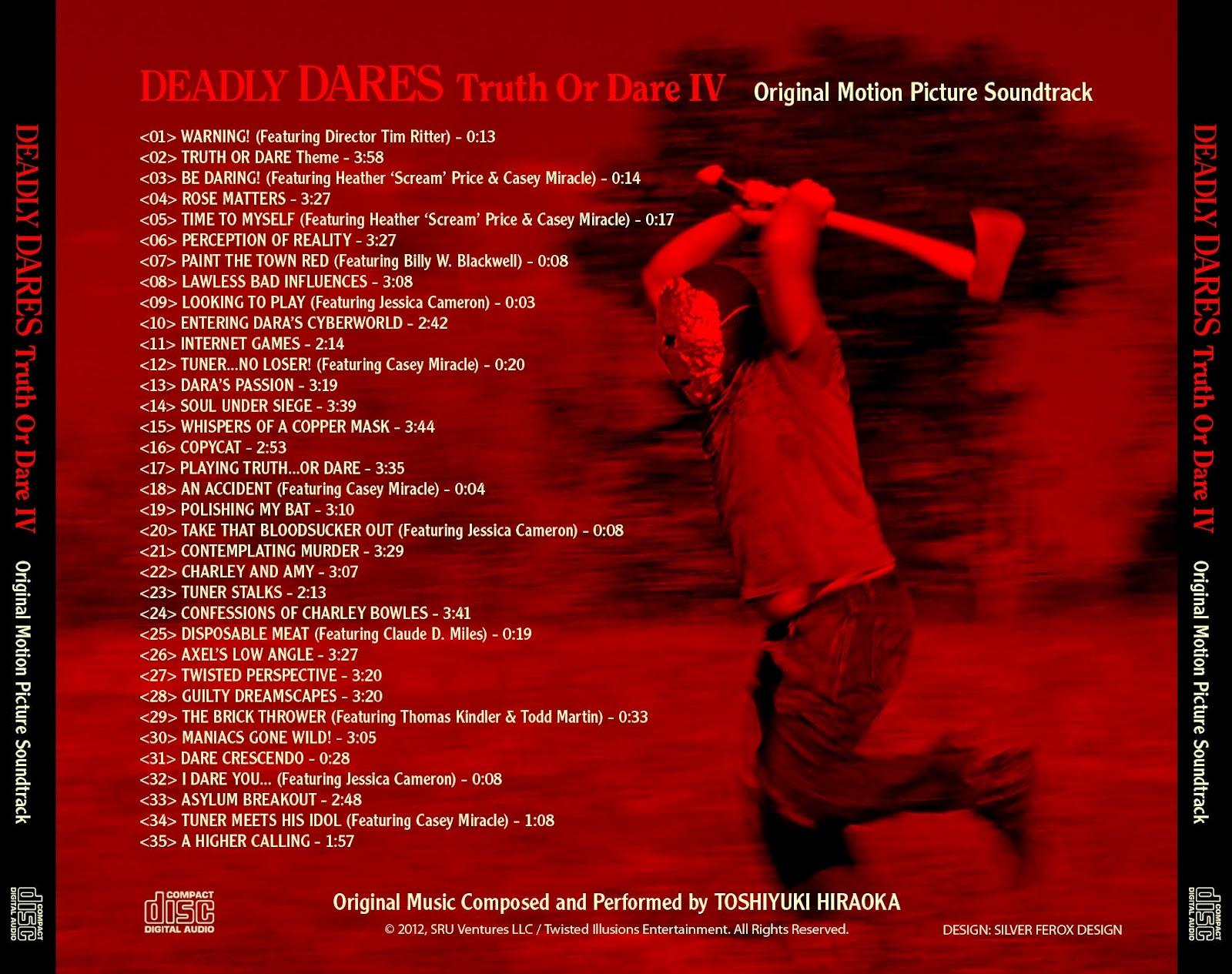deadly dares truth or dare iv original soundtrack toshiyuki hiraoka 2011