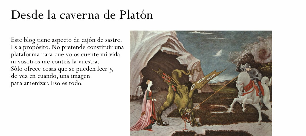 Desde la caverna de Platón