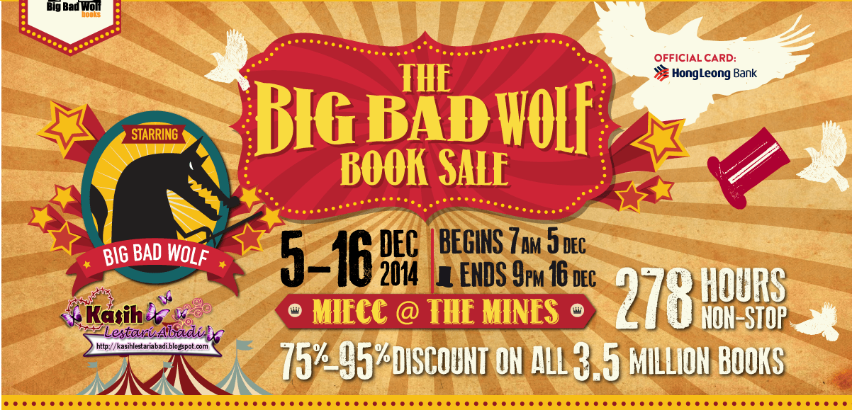 Big Bad Wolf Books 2014,Jualan buku