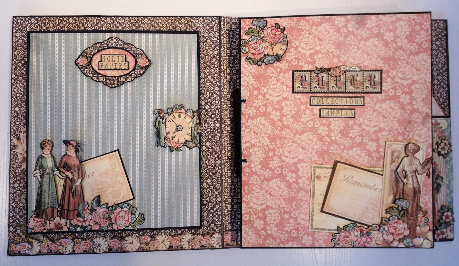 How to make scrapbook binder - Here I Have Added All The Collection Samples On The Binder