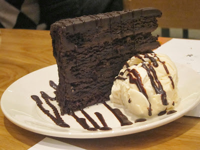 Chocolate cake from wagamama | The Economical Eater