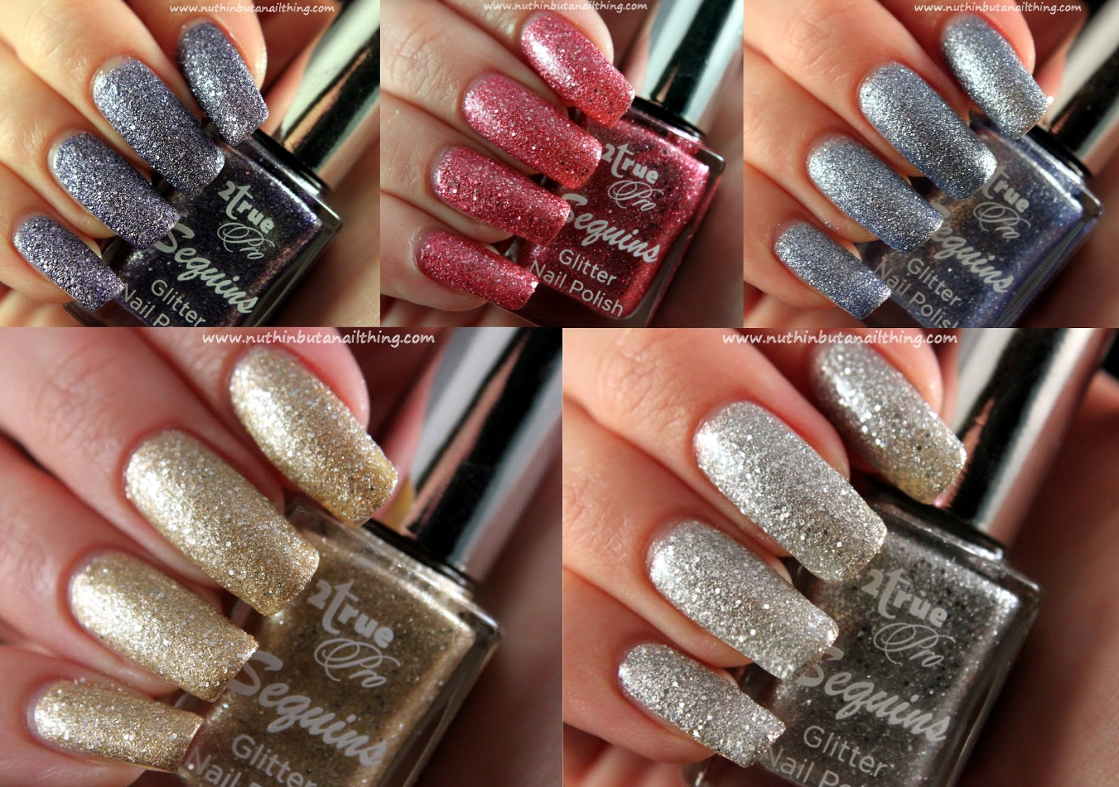 2true Sequins Glitter Full Collection Swatches