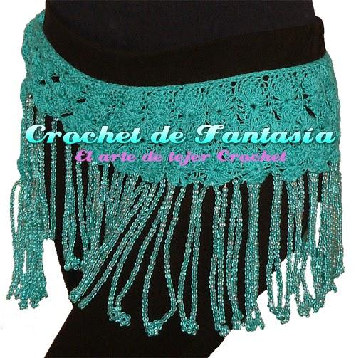 Crochet, ganchillo, caderín, danza árabe, bellydance, Danza árabe, fajilla, hecho a mano, hilo crochet.