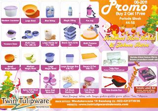Promo Tulipware Buy 2 Get 1 Free Bulan November - Desember 2011
