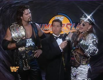 WWF / WWE - Summerslam 1994: Todd Pettengill talks to tag team champions Shawn Michaels & Diesel