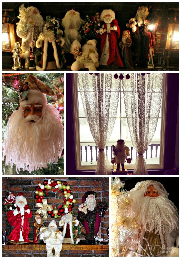 Blogger's Christmas Series #3- Decorating for Christmas /This and That  Santa, Nativity Scene, Candles