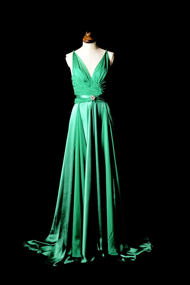 Alexandra King - Vintage Inspired Clothing. : Emerald Green Satin ...