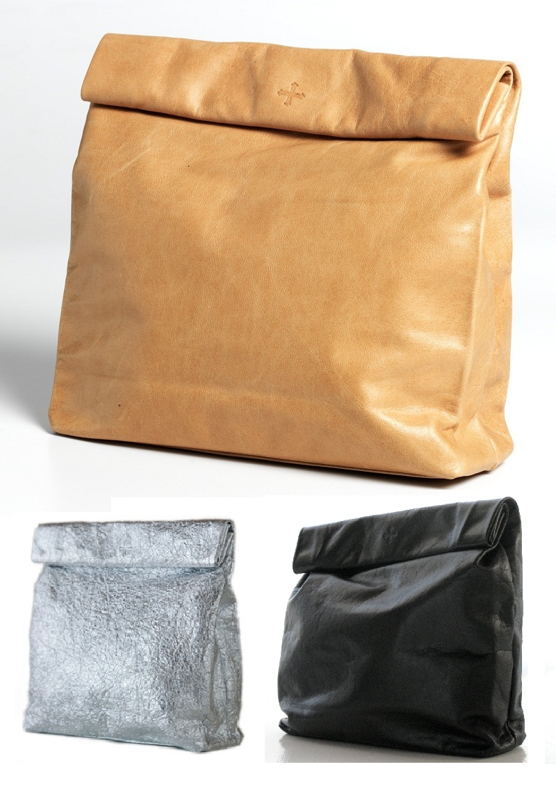 Marie Turnor, Picnic Clutch, Jil Sander Paper Bag, Jil Sander, leather, bag, clutch
