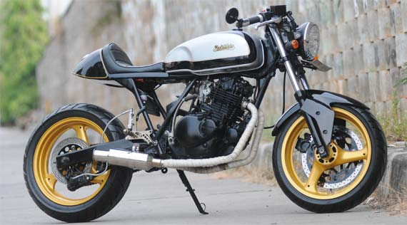 Suzuki Thunder Modif Modern Cafe Racer Classic And Vintage