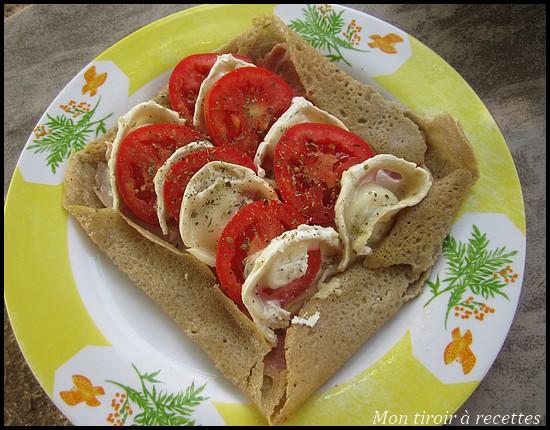 Galette bretonne tomates chèvre